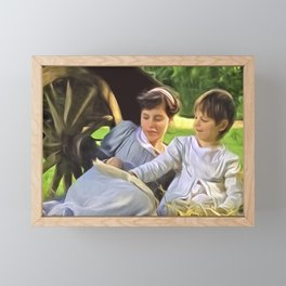 Look at the pretty pictures Framed Mini Art Print