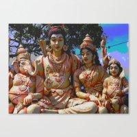 hindu Canvas Prints featuring Hindu Gods by BangBang