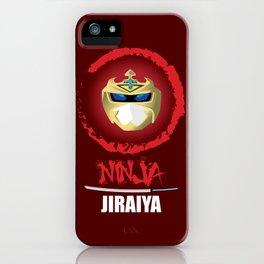 Jiraiya, The Incredible Ninja [Red Background Version] iPhone Case