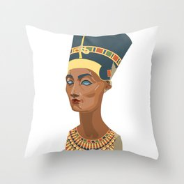 nefertiti bust Throw Pillow