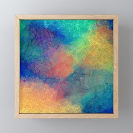 Reflecting Multi Colorful Abstract Prisms Design Framed Mini Art Print