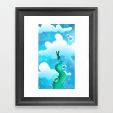 Beanstalk Bunny Framed Art Print