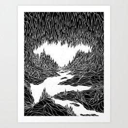Cave Trip Art Print