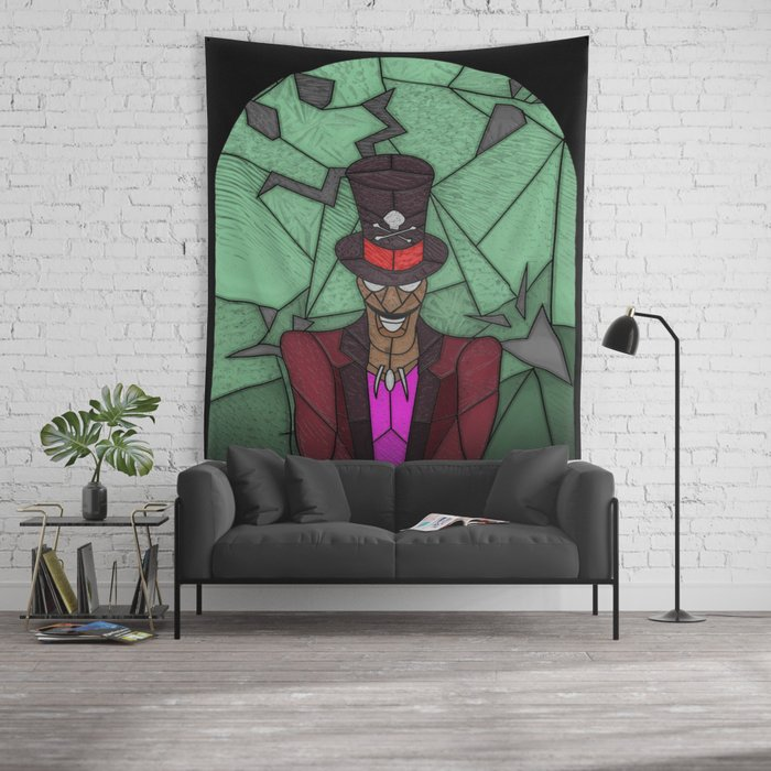 Voodoo priest Wall Tapestry by unclefrogface | Society6