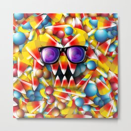 Candy Monster Metal Print