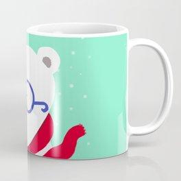 Hipster Polar Bear Coffee Mug