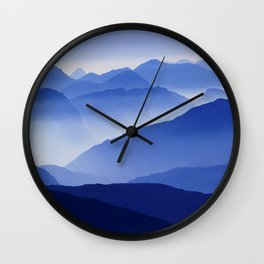 Mountains 12 Wall Clock