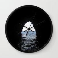 nick cave Wall Clocks featuring Cave by Ash & Shan