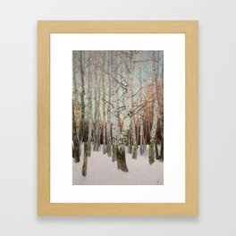 Birches. Winter Framed Art Print