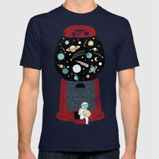 My childhood universe Navy Mens Fitted Tee MEDIUM