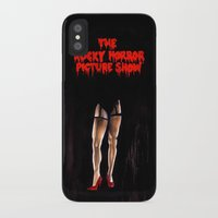 rocky horror picture show iPhone & iPod Cases featuring RHPS by Zombie Rust