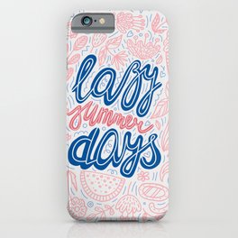 Pastel Lazy Summer Days Poster iPhone Case