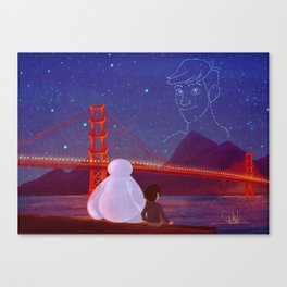 You're in the night sky now, Tadashi Canvas Print