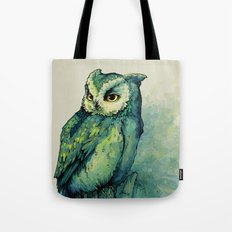 Green Owl Tote Bag