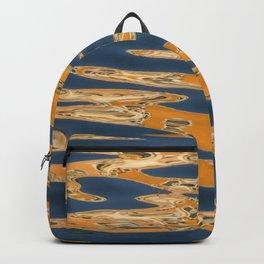 Aqua Abstract Backpack