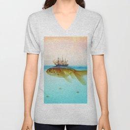 Goldfish Tall Ship Unisex V-Neck