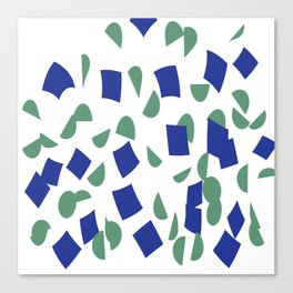 scatter geometric brush blue gray Canvas Print