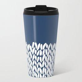 Half Knit Navy Travel Mug