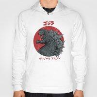 kaiju Hoodies featuring Gojira Kaiju Alpha by Pigboom Art