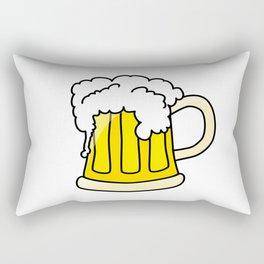 Funny full glass beer cartoon Rectangular Pillow