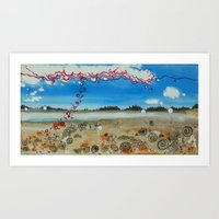 Sand Magnified Art Print