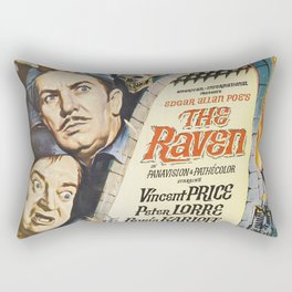 Vintage Classic Movie Posters, The Raven Rectangular Pillow