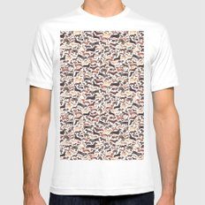 Dachshund White Mens Fitted Tee X-LARGE