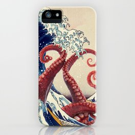 Attack of The Great Wave off Kanagawa iPhone Case