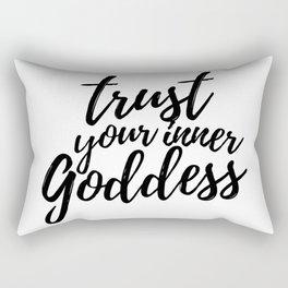 Trust Your Inner Goddess (Light) Rectangular Pillow