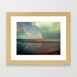 Rainbow Over Sea Framed Art Print