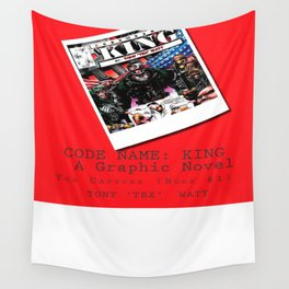 """""""Code Name: King""""  - ALTERNATE Comic Book Promo Poster  Wall Tapestry"""