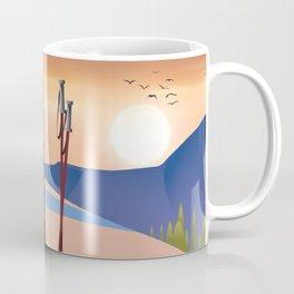 Ski landscape poster Coffee Mug