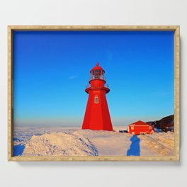 Lighthouse  and Frozen Sea Serving Tray