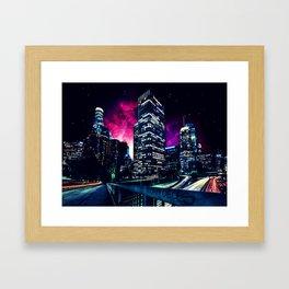 Spacey Los Angeles Framed Art Print