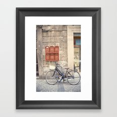 bike love::rome, italy Framed Art Print