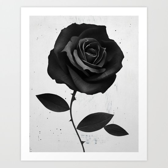 Fabric Rose Art Print