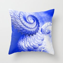 Rage of the storm Throw Pillow