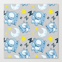 cryaotic Canvas Prints featuring Cryaotic Pj Pants Design by xWishCraftx/Mischakins