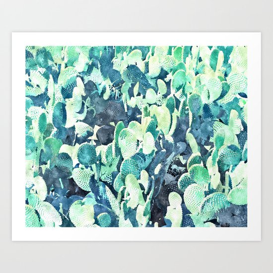 Watercolor Cactus     #society6 #decor #buyart Art Print