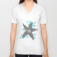 starfish V-neck T-shirts featuring starfish by Grapheides