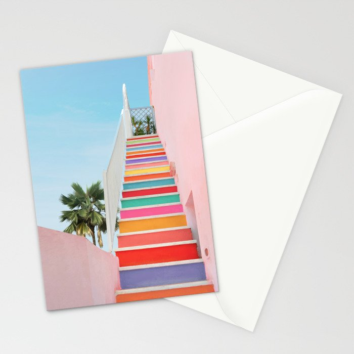 Rainbow Stairway Stationery Cards