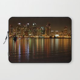 San Diego Skyline Night Laptop Sleeve