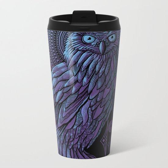 Owl Nouveau II Metal Travel Mug