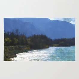 Peace In The Valley - Landscape Art Rug