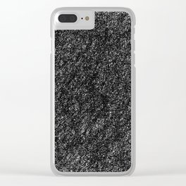 Static Abstract Clear iPhone Case