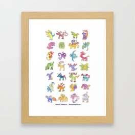 Colorful Animals Framed Art Print