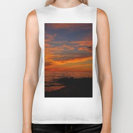 First Sunset of Summer Biker Tank