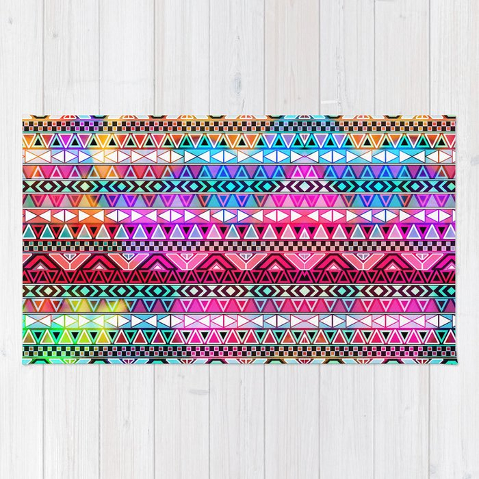 Purple Pink Neon Bright Andes Abstract