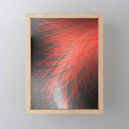 Salmon Splash - Fractal Art  Framed Mini Art Print