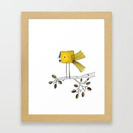 Nosy Bird Framed Art Print